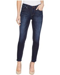 Two By Vince Camuto | Indigo Undone Hem Five-pocket Ankle Jeans In Dark Authentic | Lyst