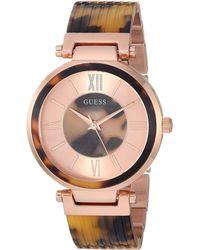 Guess - U0638l8 (rose Gold Tone/tortoise) Watches - Lyst