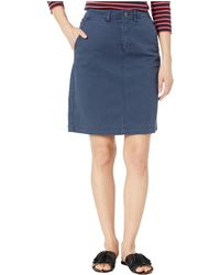 Pendleton Chino Twill Skirt - Blue