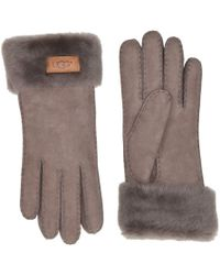 UGG - Turn Cuff Water Resistant Sheepskin Gloves (lantana Pink) Extreme Cold Weather Gloves - Lyst