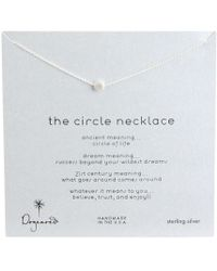 Dogeared - Circle Necklace - Lyst