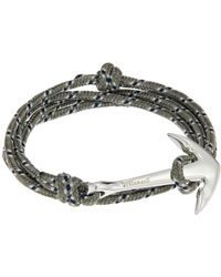 Miansai - Anchor On Rope Bracelet - Lyst