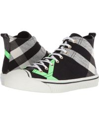 Burberry - Bourne Mid Top Sneaker - Lyst