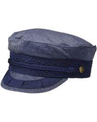 8d4541e4eec Brixton - Albany Cap (light Navy) Caps - Lyst