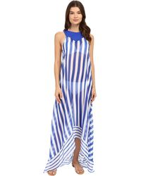 Saha - Urania Maxi Asymmetric Dress Cover-up - Lyst