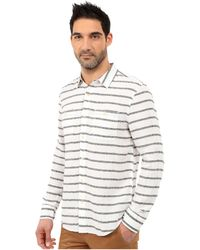 Lucky Brand - Striped Linen Shirt - Lyst