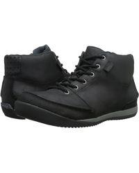 Simple - Altitude Men Round Toe Leather Black Boot - Lyst