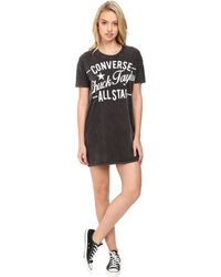 Converse - Chuck Taylor Archive Tee Dress - Lyst