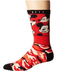 Neff - All Smiles Mickey Sock - Lyst