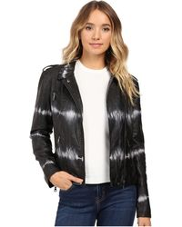 Brigitte Bailey - Skylar Faux Leather Tie-dye Jacket - Lyst