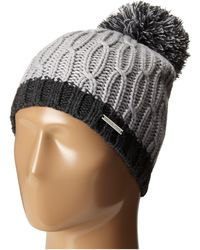 194ad2b5770 MICHAEL Michael Kors - Color Block Rib cable Hat With Pom - Lyst