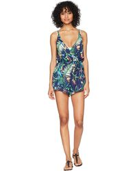 Lucky Brand - Lush Leaf Romper With Pockets Cover-up - Lyst
