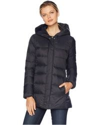 Cole Haan - 29 Shawl Hood Packable Jacket With Back Waist Elastic Detail (black) Women's Coat - Lyst
