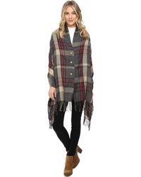 San Diego Hat Company - Bsp1002 Woven Plaid Poncho - Lyst