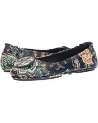 Tory Burch - Minnie Travel Ballet Flat (tortoise) Women's Shoes - Lyst