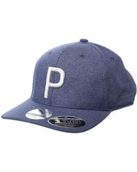 a17ce8b7533 PUMA - P 110 Snapback Cap (bright White Heather) Baseball Caps - Lyst