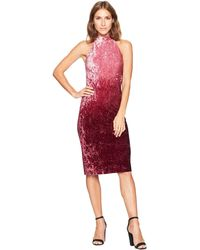 Cece - Hailey Sleeveless Ombre Velvet Dress (deep Syrah) Women's Dress - Lyst