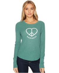 Life Is Good. | Peace Love Happiness Long Sleeve Waffle Tee | Lyst