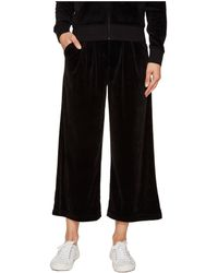 Juicy Couture - Lightweight Velour Cropped Wide Leg Trousers - Lyst