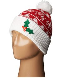 San Diego Hat Company - Knh3448 Christmas Tree Beanie (red) Beanies - Lyst
