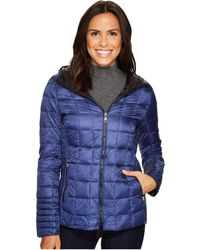 Vince Camuto - Hooded Lightweight Down N1961 (sapphire) Women's Coat - Lyst