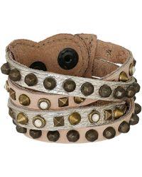 Leatherock - B511 (black Walnut/tobacco) Bracelet - Lyst