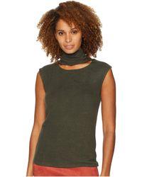 Catherine Malandrino - Sleeveless Turtleneck Sweater W/ Front Neck Cutout (grape Leaf) Women's Sweater - Lyst