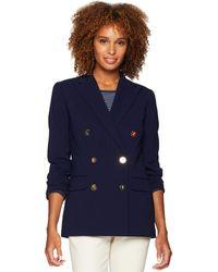 Lauren by Ralph Lauren - Stretch Wool Blazer (rl Navy) Women's Jacket - Lyst