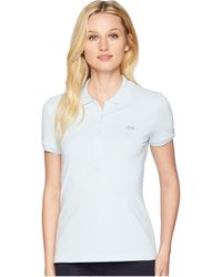 b90bd0233e07f0 Lacoste - Short Sleeve Slim Fit Stretch Pique Polo Shirt (white) Women s  Clothing -