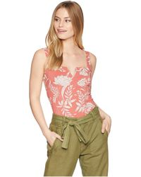 Free People - Pippa V-wire Printed Bodysuit (black Combo) Women's Jumpsuit & Rompers One Piece - Lyst