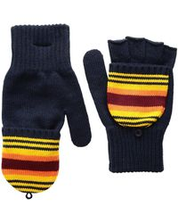 Pendleton - National Park Mitten (crater Lake Stripe) Wool Gloves - Lyst