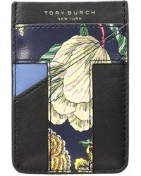 Tory Burch - Floral Card Pocket Case (midnight Happy Times) Credit Card Wallet - Lyst