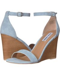 79789764b19 Steve Madden - Mary Wedge Sandal (natural Leather) Women s Sandals - Lyst