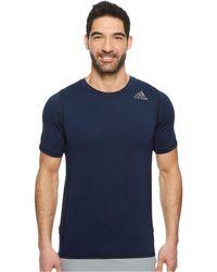 adidas - Alphaskin Sport Fitted Short Sleeve Tee (collegiate Royal) Men's T Shirt - Lyst
