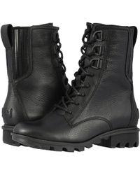 Sorel - Phoenixtm Lace (black Full Grain Leather) Women's Lace-up Boots - Lyst