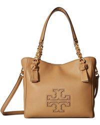 Tory Burch - Harper Small Satchel (bedrock) Satchel Handbags - Lyst