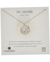 Dogeared - The Unicorn Coin Necklace (silver) Necklace - Lyst