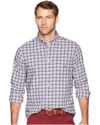 Nautica - Long Sleeve Small Plaid Woven Shirt (ensign Blue) Men's Clothing - Lyst