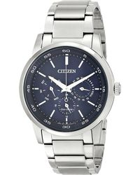 Citizen - Bu2010-57l Eco-drive Dress (silver Tone Stainless Steel) Dress Watches - Lyst