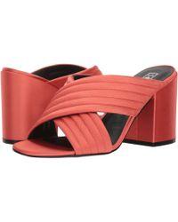 Sol Sana - Elena Mule (black Satin) Women's 1-2 Inch Heel Shoes - Lyst