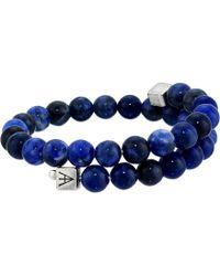 ALEX AND ANI - Beaded Gemstone Wrap Bracelet - Lyst