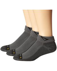 Drymax Sport - Lite Trail Running 1/4 Crew Turn Down 3-pair Pack (lime Green/gray) Crew Cut Socks Shoes - Lyst