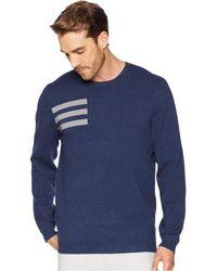 adidas Originals - 3-stripes Crew Neck Sweater (collegiate Navy Heather) Men's Long Sleeve Pullover - Lyst
