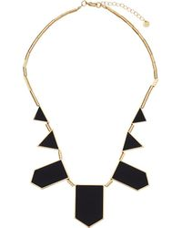 House of Harlow 1960 - Plated Five Station Black Leather Necklace - Lyst