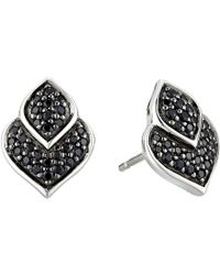 John Hardy Legends Naga Stud Earrings With Black Shire And Spinel Lyst