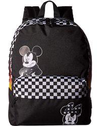 febdbbf73e Vans - Mickey s 90th Punk Mickey Realm Backpack (black) Backpack Bags - Lyst