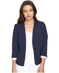 Kensie - Heather Stretch Crepe Blazer Ks2k2s54 (heather Navy) Women's Jacket - Lyst