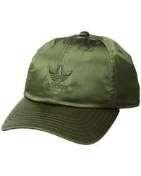 12d2b17e380 adidas Originals - Originals Relaxed Satin Strapback (maroon) Caps - Lyst