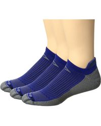 Drymax Sport - Running No Show Tab 3-pack (october Pink/anthracite) No Show Socks Shoes - Lyst