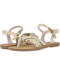 aad5981c924 Lyst - TOMS Gold Metallic Suede Women s Lexie Sandals in Metallic